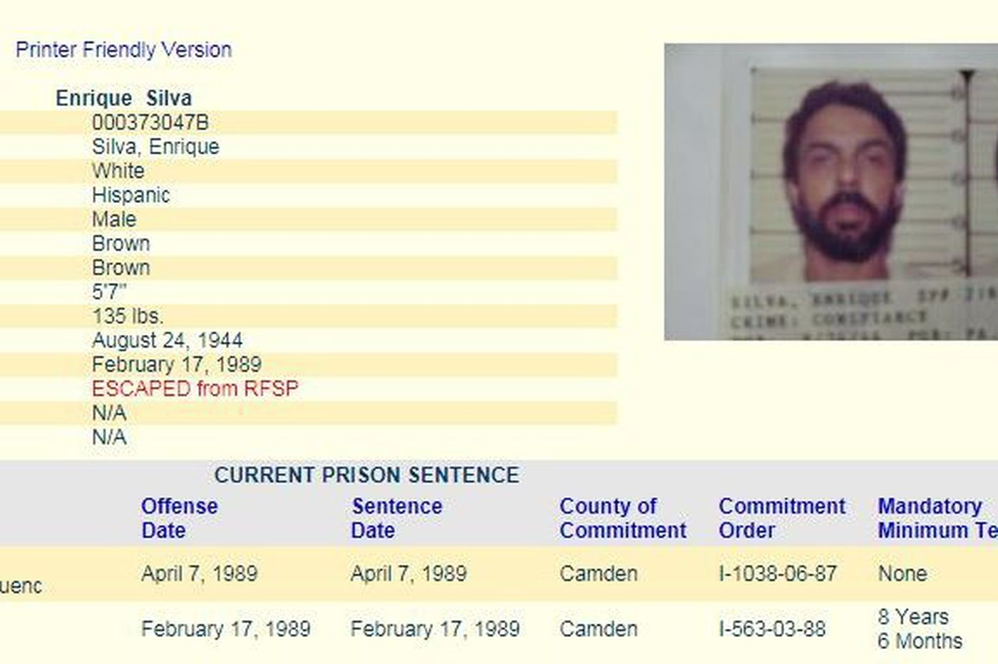 South Jersey prison escapee captured in Orlando after 23 years on the run