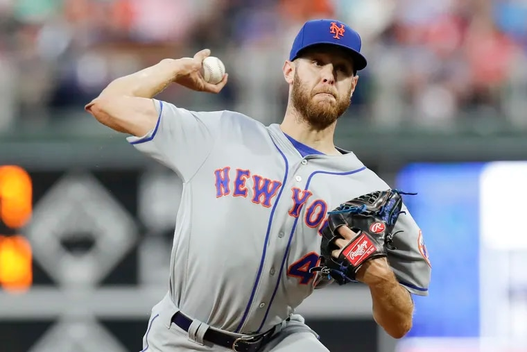 Zack Wheeler in action against the Phillies on Aug. 30.