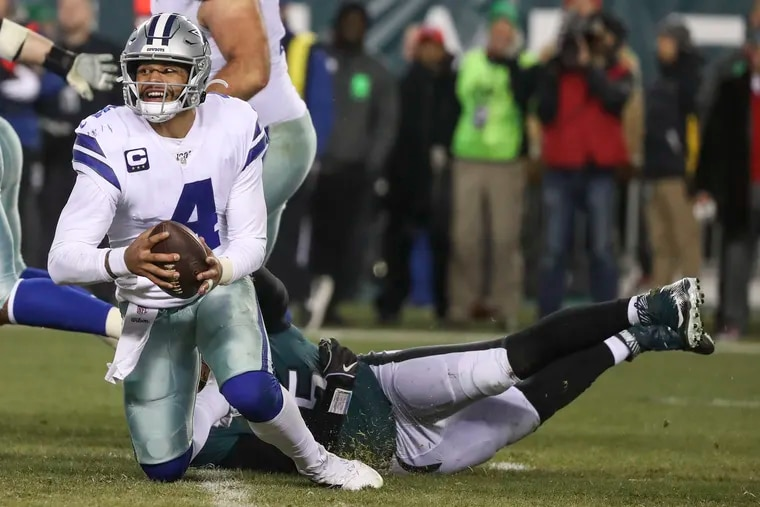 The Cowboys drafted Dak Prescott when Tony Romo was still very much their starter. But Romo's injuries quickly gave Prescott a chance and he's been their quarterback ever since.