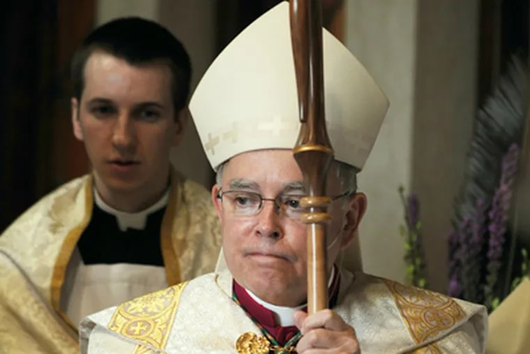 Philadelphia Archbishop Charles J. Chaput at the Cathedral Basilica of Saints Peter and Paul on Feb. 6. (Sarah J. Glover / Staff Photographer)