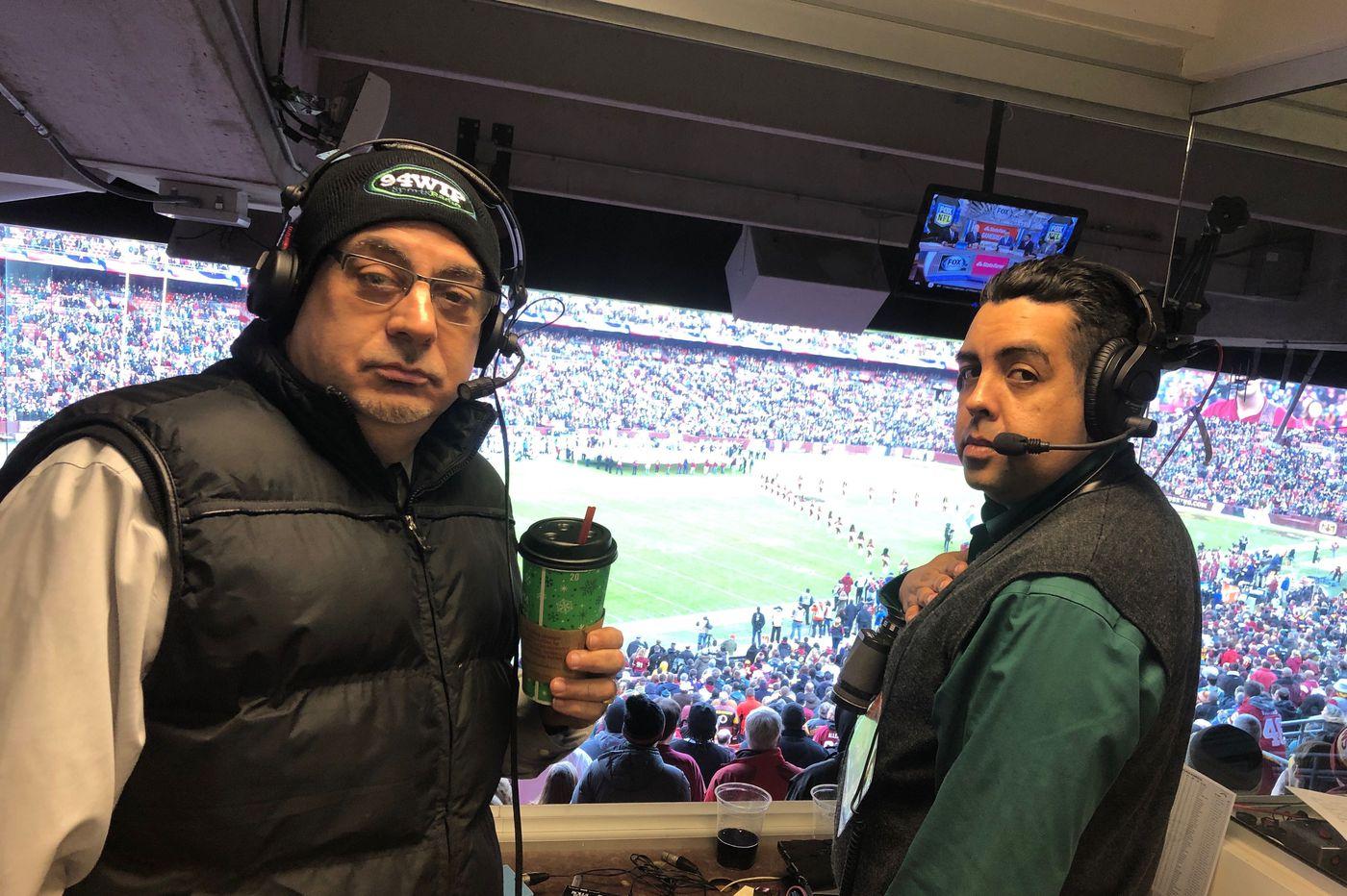 Where did announcer Rickie Ricardo get his '¡No, señor!' call for Sunday's Eagles win?