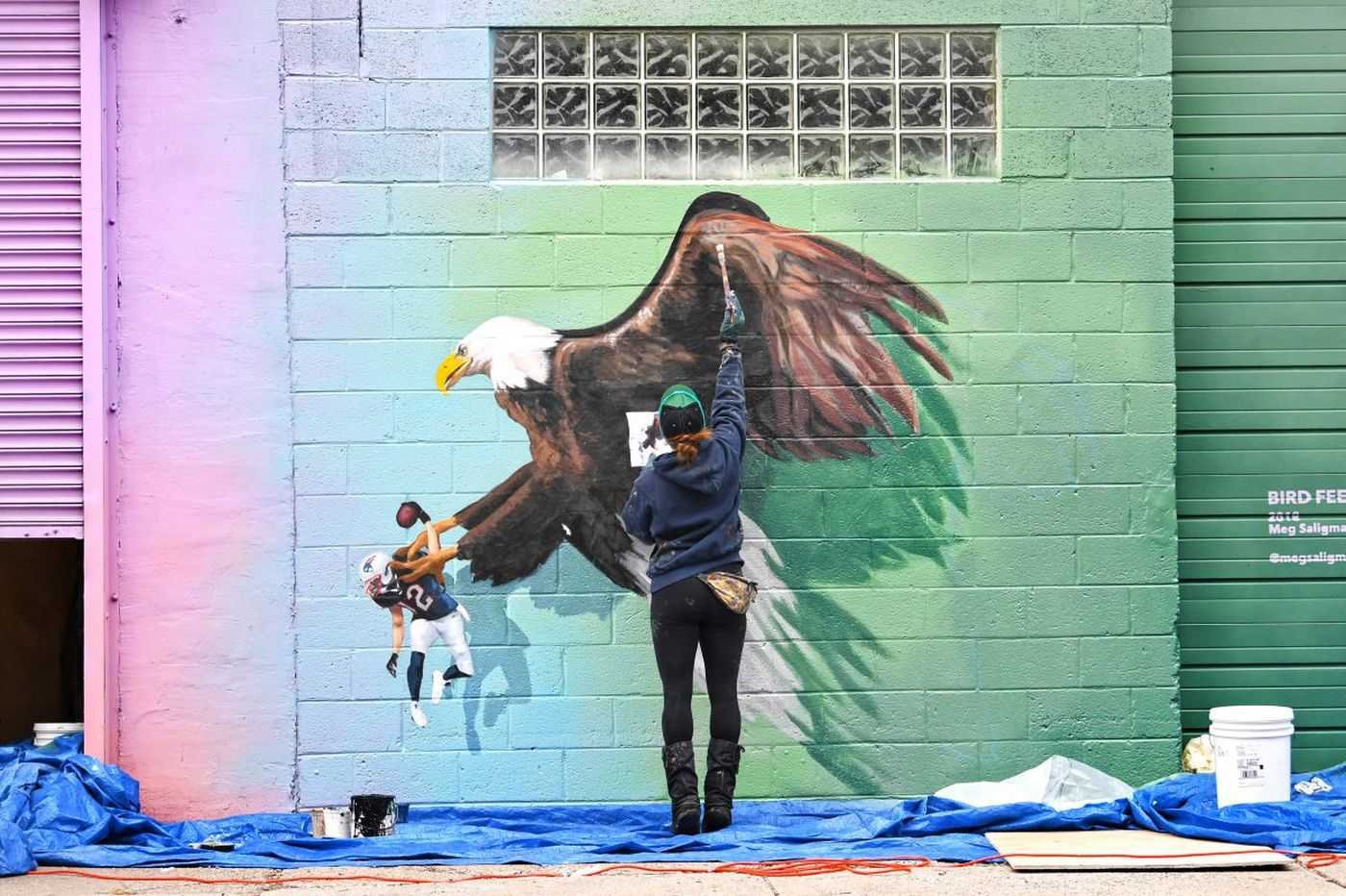 Tom Brady Eagles Mural