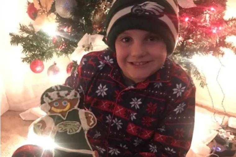 Chase Garofolo, 9, and his Gingerbread Wentz.