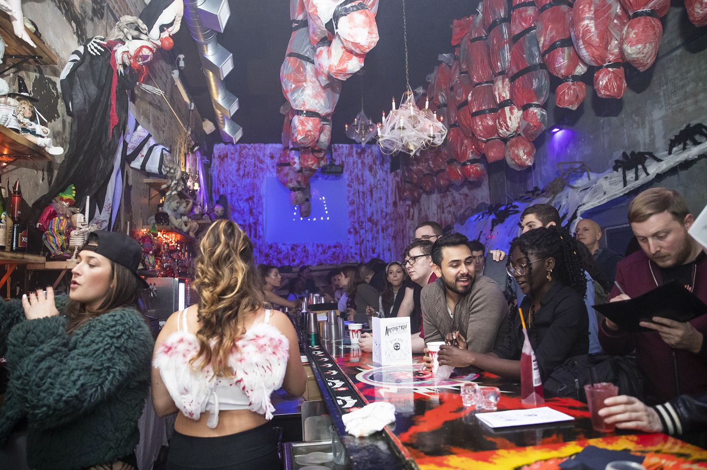 Gory, classy, confusing: A tour of Philly's Halloween pop-up bars