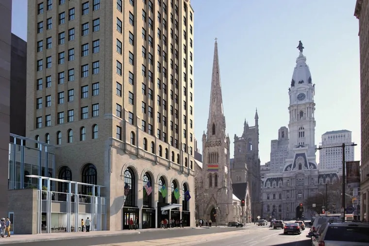 Realen Properties of Berwyn and HRI Properties of New Orleans are converting the 1920s Liberty Title & Trust building at 101 N. Broad St. into a 179-room Aloft hotel.