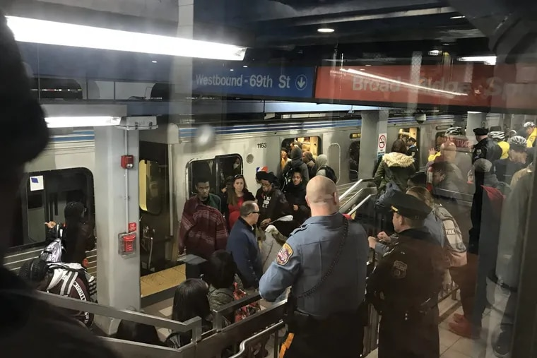 A lunchtime brawl at the 8th Street Septa station on Dec. 1, 2017 attracted scores of police officers.