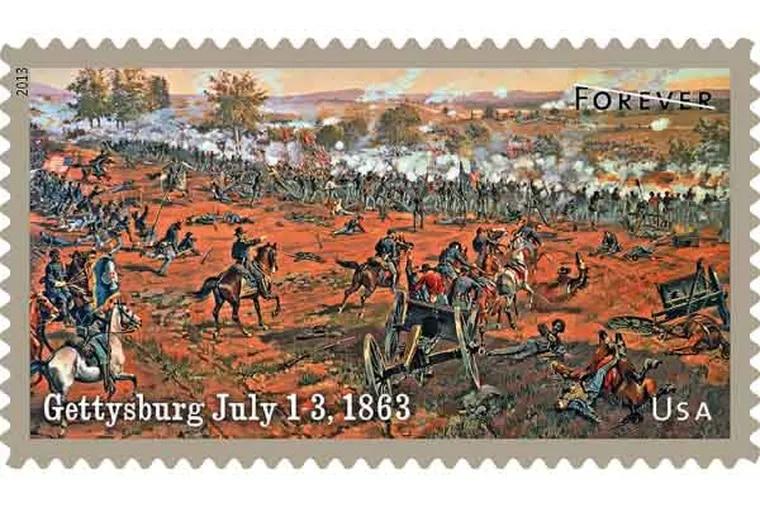 4-0_USPS13STA004d.jpg - The Civil War: 1863 - Gettysburg July 1-3, 1863 Ð Gettysburg stamp (Handout)