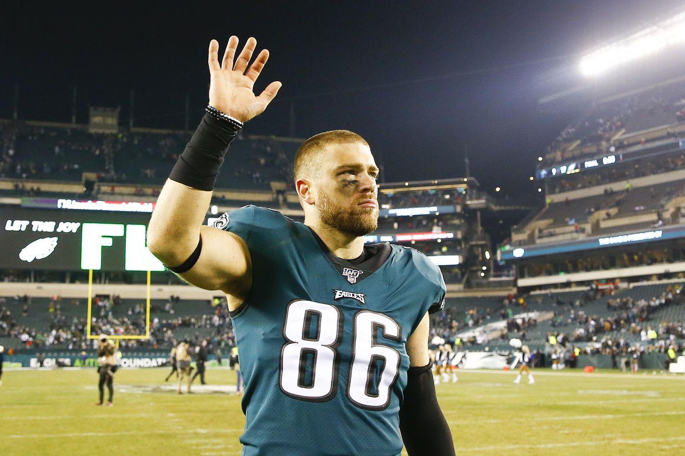 Eagles' Zach Ertz urges Pennsylvania high schools not to cancel 2020 fall sports