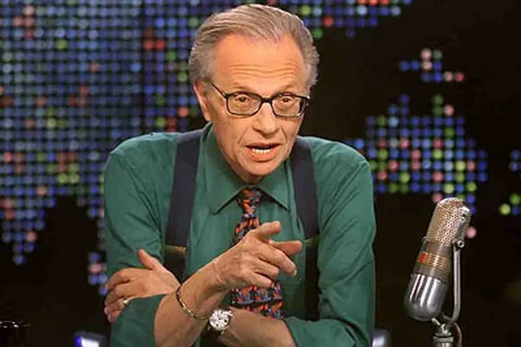 """Larry King, in 2005. His last """";Larry King Live"""" on Thursday caps a quarter- century at CNN. """"I don't think, in modern-day cable news,"""" an analyst said, """"the softer, nonpolitical format works anymore."""" (Rose M. Prouser)"""