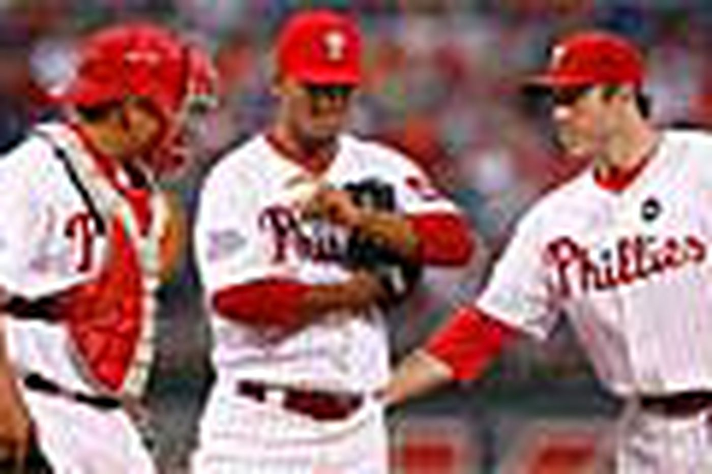 Phillies go down in a deluge