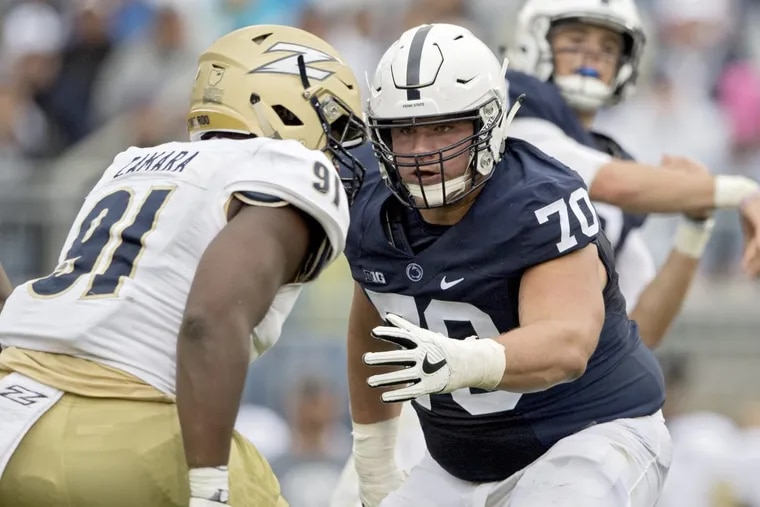 Brendan Mahon is the most experienced player on Penn State's offensive line.