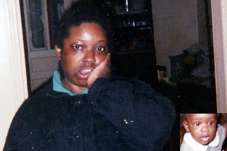 Christina Sankey was severely autistic with the intellectual capacity of a toddler. She became separated from her state-paid caretaker inside Macy's on 13th and Market streets on March 6th. Her body was found the next morning in West Philly. Inset: Christina as a toddler in the '70s.  (family photos)