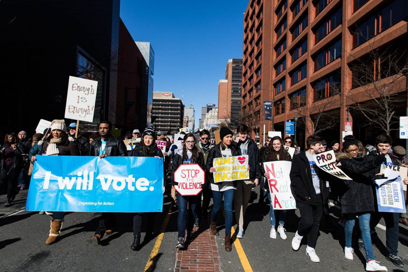 At Philly's March for Our Lives, calls to remember that gun violence is nothing new