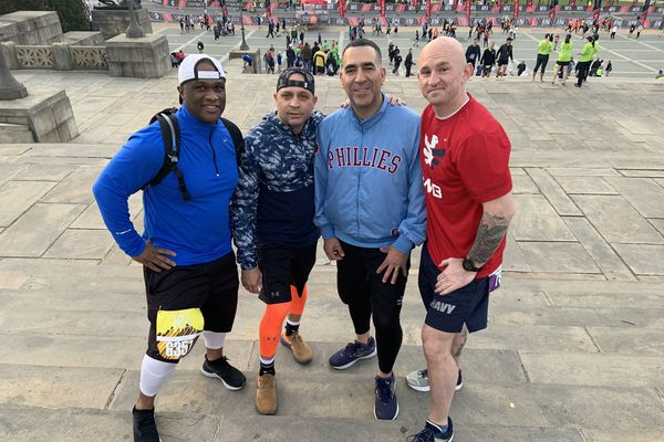 Out of uniform, still serving: Philly cop who hated running as a Marine races for cancer research