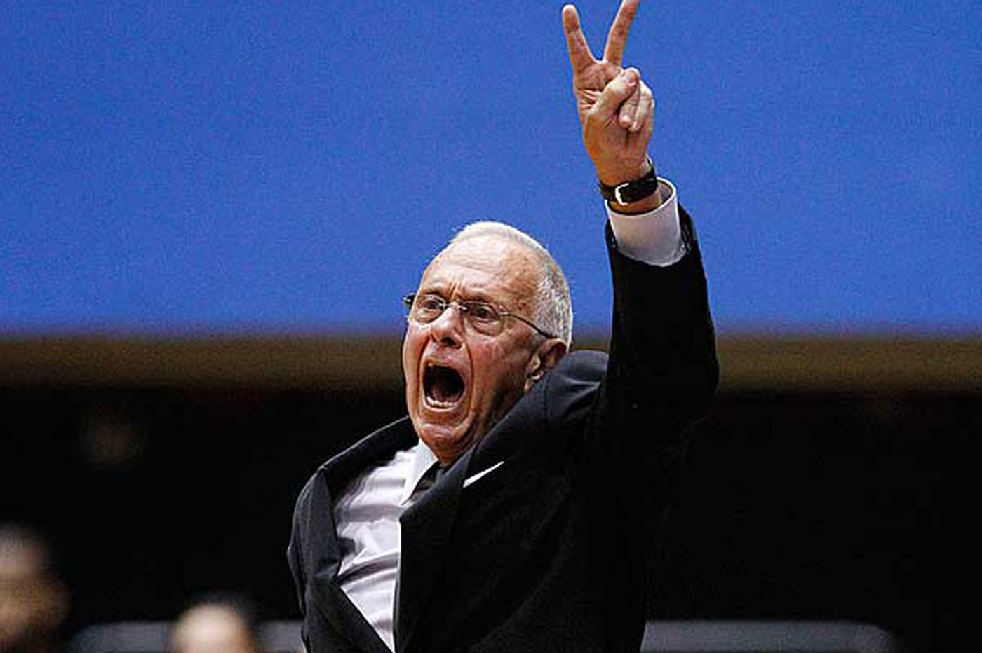 Larry Brown doing life's work
