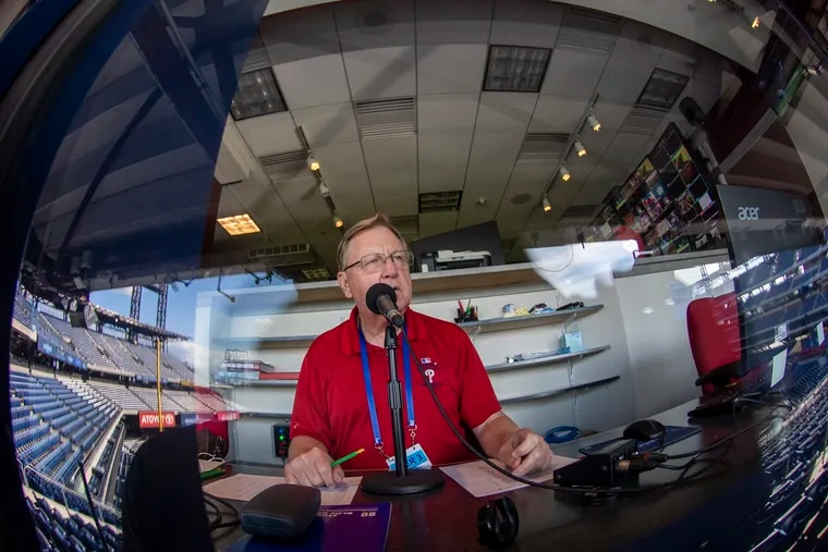 The Phillies' longtime PA announcer Dan Baker expects to be back for opening day on April 1 at Citizens Bank Park after battling a serious illness during the pandemic-shortened 2020 season.