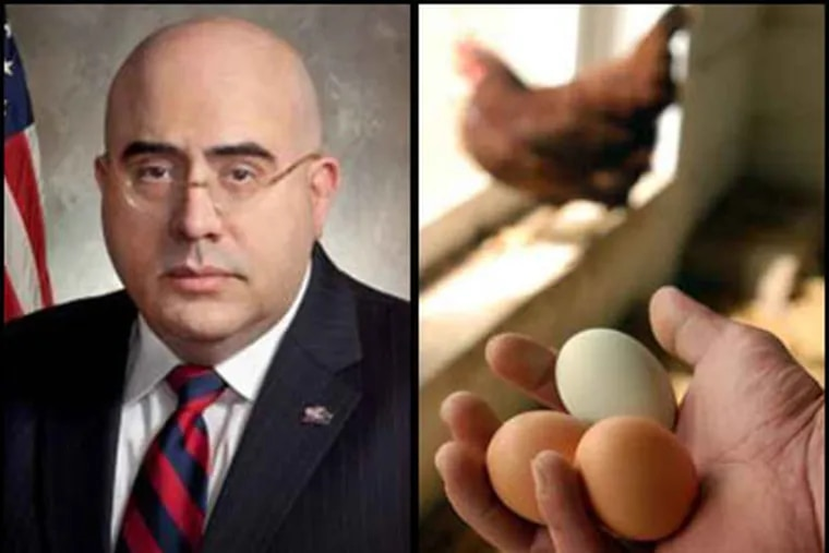 """""""Do you know who I am,"""" Eli N. Avila , newly minted Pa. health secretary, reportedly told a diner owner his  eggs were not fresh enough.  The owner found out eggs-actly who Avila is when an inspection followed. (file)"""