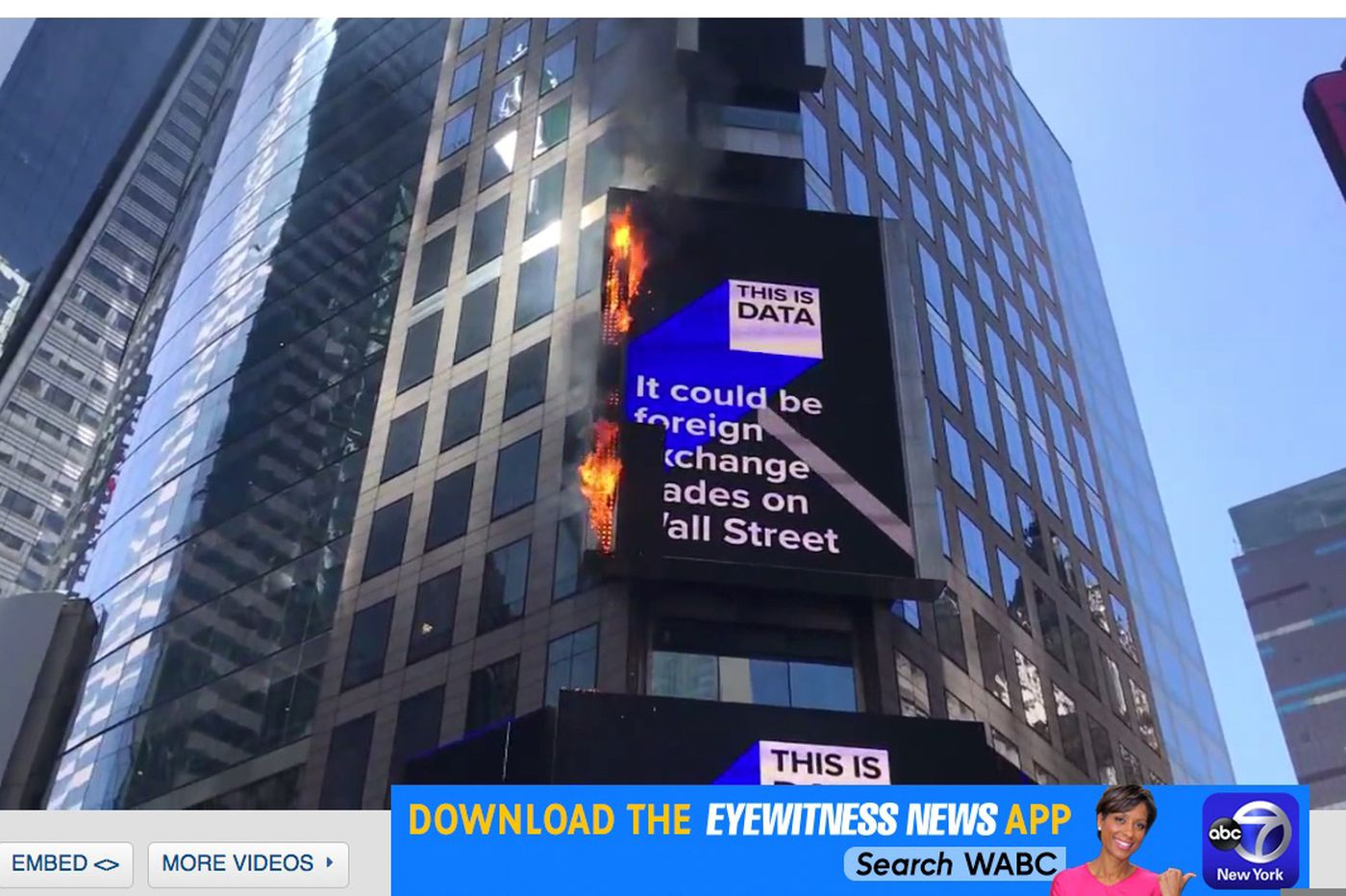 Firefighters respond to Time Square billboard fire