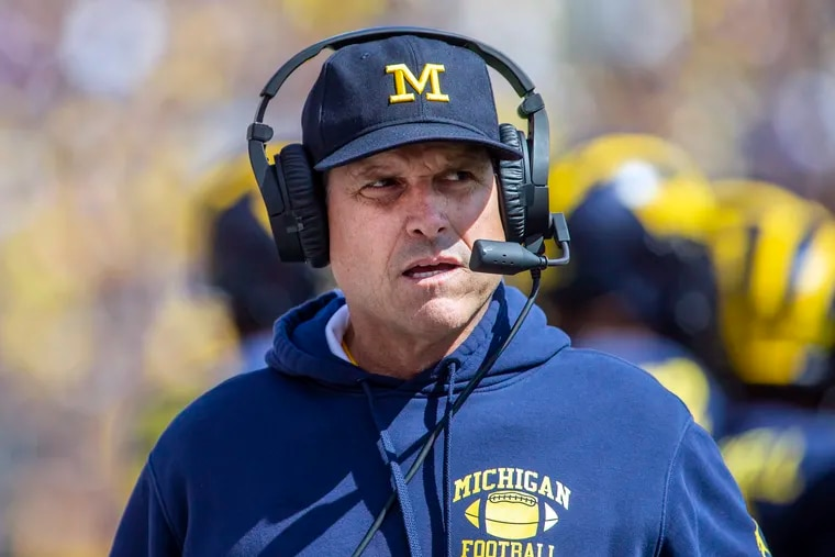 Michigan head coach Jim Harbaugh was outspoken in being against suspending the season.