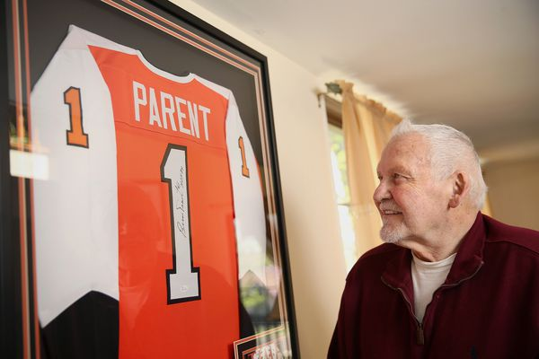 Flyers icon Bernie Parent, 74 going on 54 (or is it 24?), on the mend from back surgery