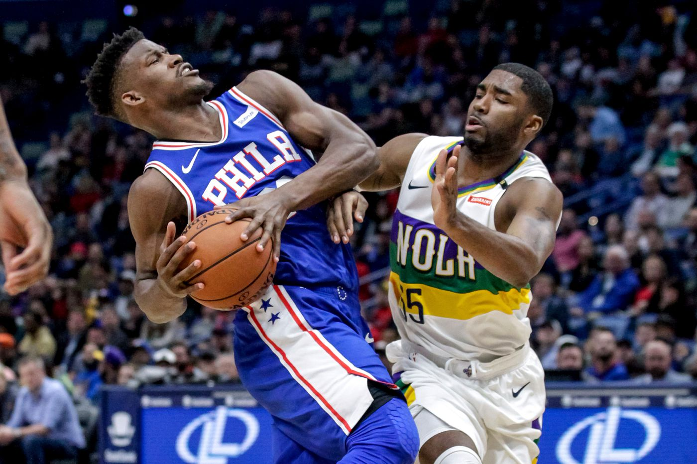 Sixers are forced to hold off the Pelicans, 111-110