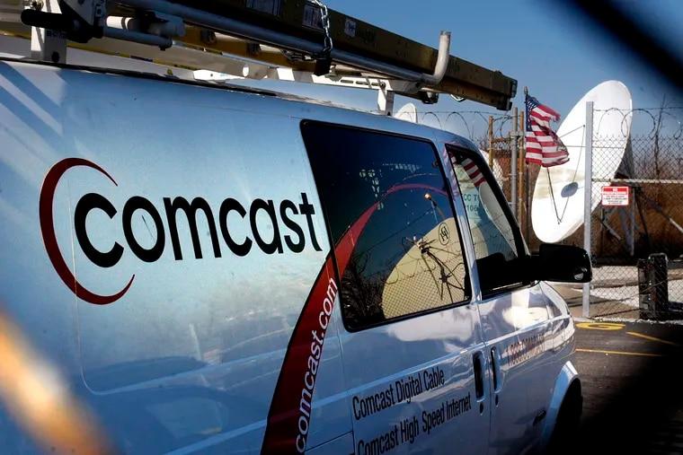 A 2004 file image of a Comcast van.