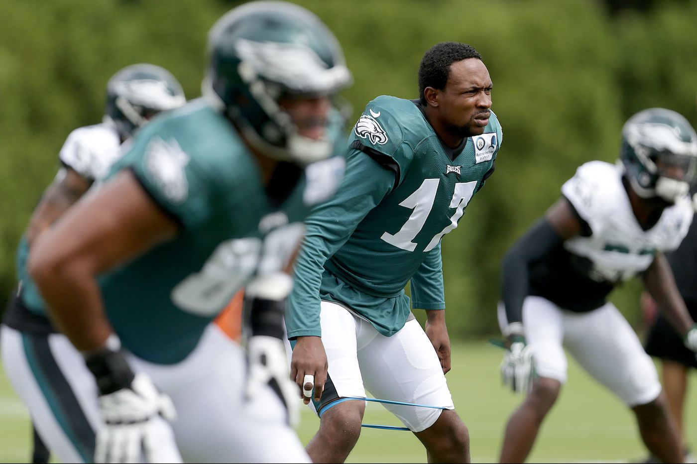 Alshon Jeffery won't speculate on a return date, but the Eagles' offense needs him