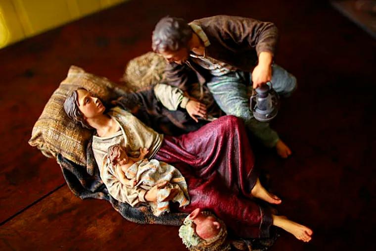 One of the Pomeroy's nativity scenes is by Heide Studios, December 4, 2012. ( DAVID SWANSON / Staff Photographer )