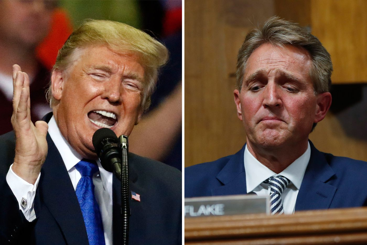 GOP Sen. Jeff Flake criticizes Trump's 'appalling' mockery of Christine Blasey Ford