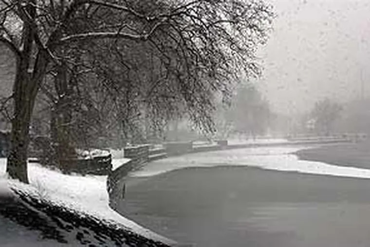 No, this isn't a 1966 scene, but one from a snowstorm of more recent vintage: Feb. 17, 2003. This photograph was taken at the Schuylkill.