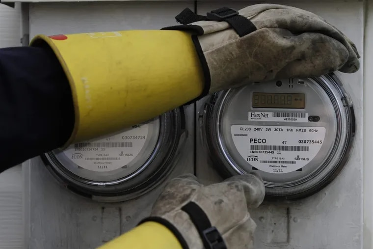 A Peco electric meter.