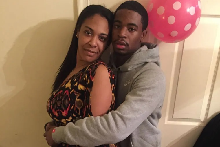 Tania Bond (left) with her husband, Dennis Plowden Jr. Plowden, 25, was fatally shot by a Philadelphia police officer on Dec. 27, 2017.