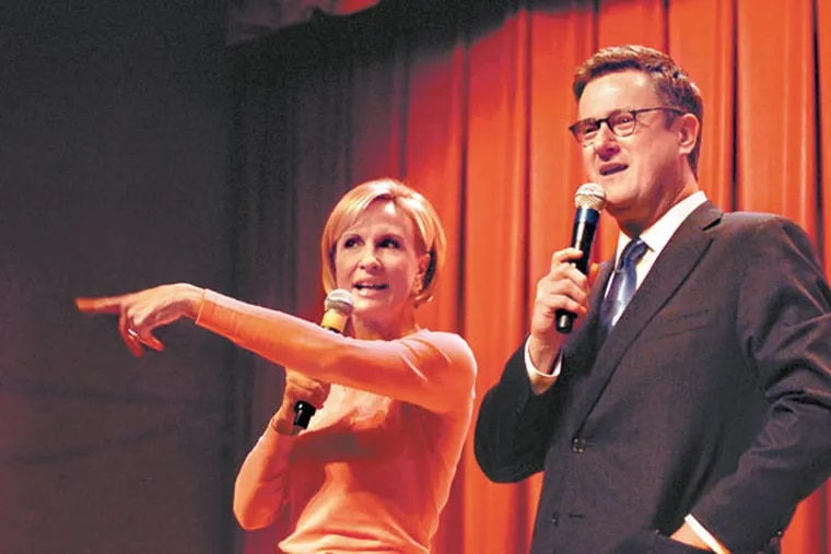 MSNBC 'Morning Joe' co-host Mika Brzezinski (left) was missing from the show one day after apologizing for making a homophobic comment.