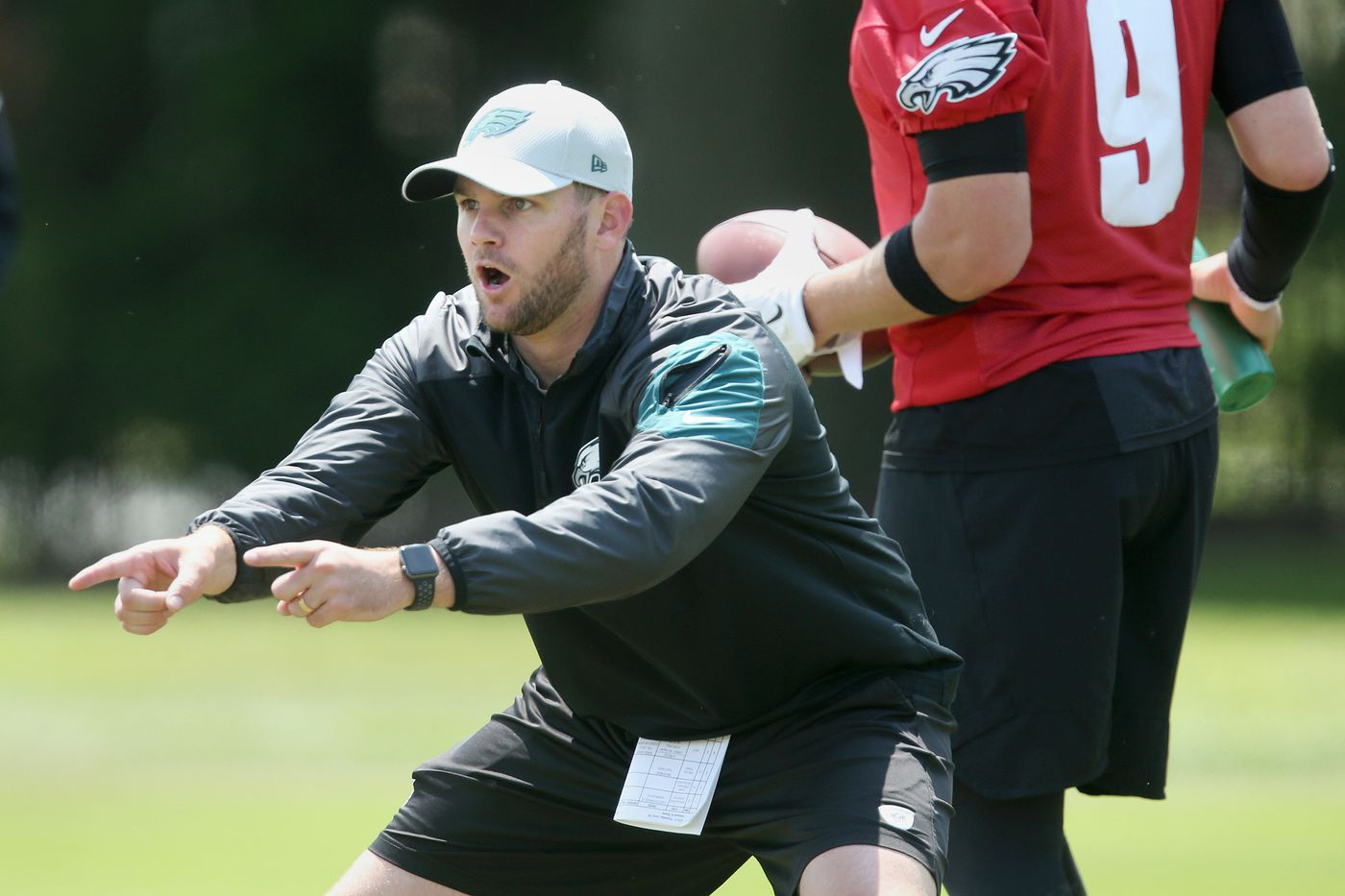 Press Taylor is living life in the fast lane, from unearthing the 'Philly Special' to coaching the QBs