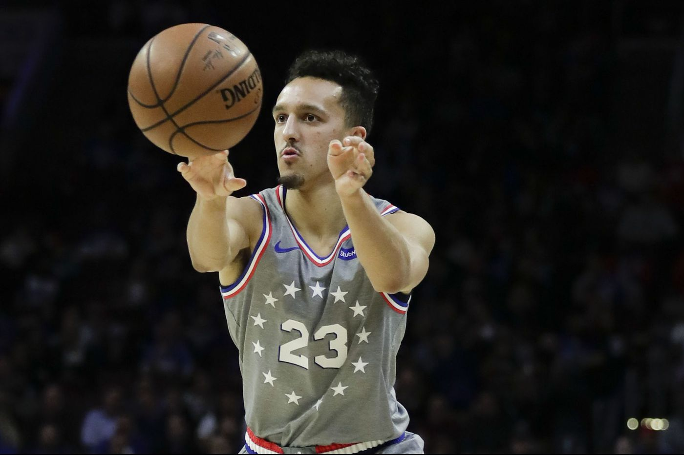 new concept ebd37 6c519 Sixers rookie Landry Shamet is playing wise beyond his years