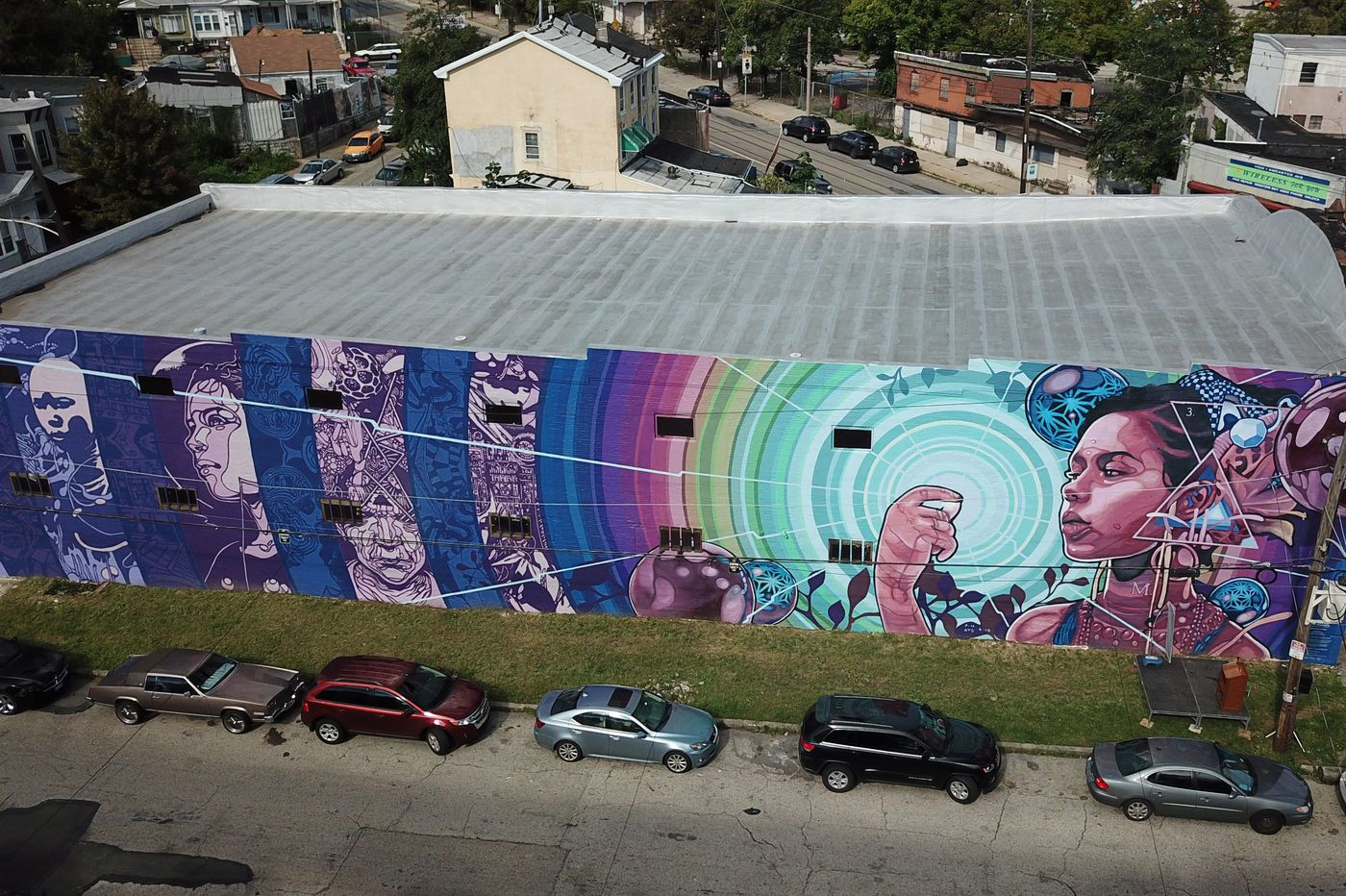 Mural Arts Philadelphia debuts its first augmented reality mural, 'Dreams, Diaspora, and Destiny'