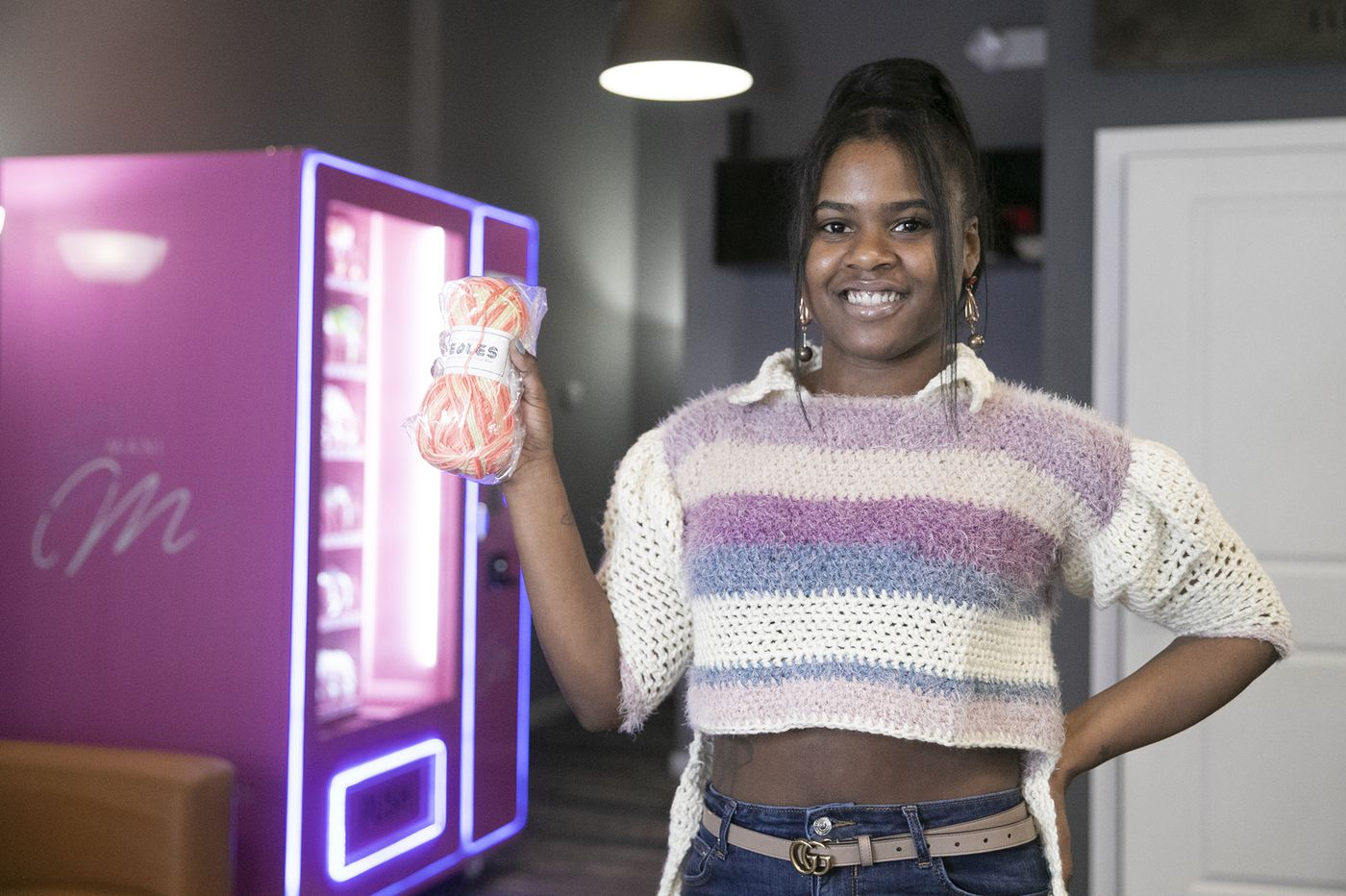 A North Philly crochet designer has made a yarn vending machine part of her craft