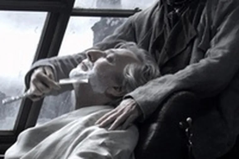 Judge Turpin (Alan Rickman) could get more than a little off the top from Sweeney Todd (Johnny Depp).