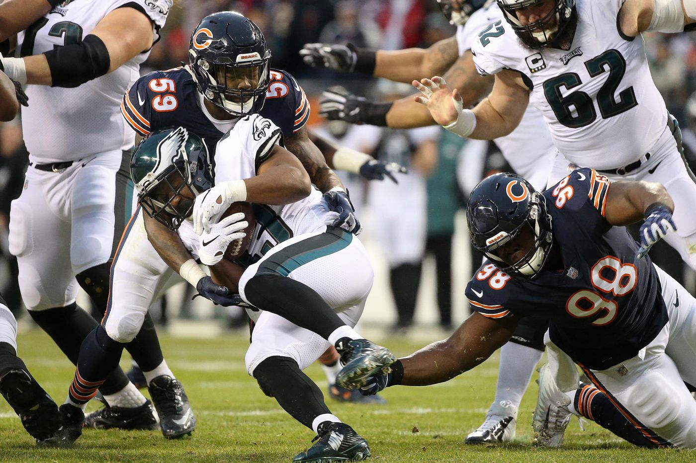 Eagles 16, Bears 15 - as it happened
