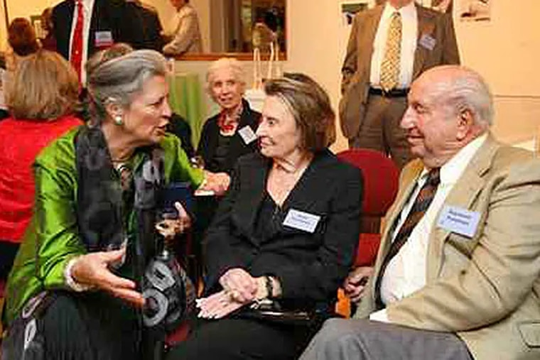 Anne d'Harnoncourt won the 2007 Founder's Award. She is shown here at the ceremony with  Ruth and Raymond G. Perelman.