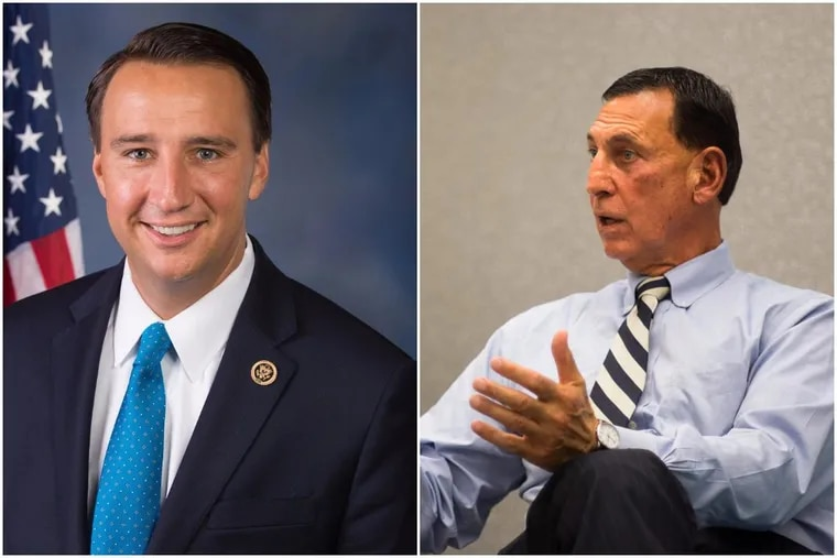 Rep. Ryan Costello (R.,Pa.), at left, already faces a stiff Democratic challenge in his targeted suburban Philadelphia district. The Tuesday retirement of Rep. Frank LoBiondo (R.,N.J.), at right, adds to the party's potential woes in the region.