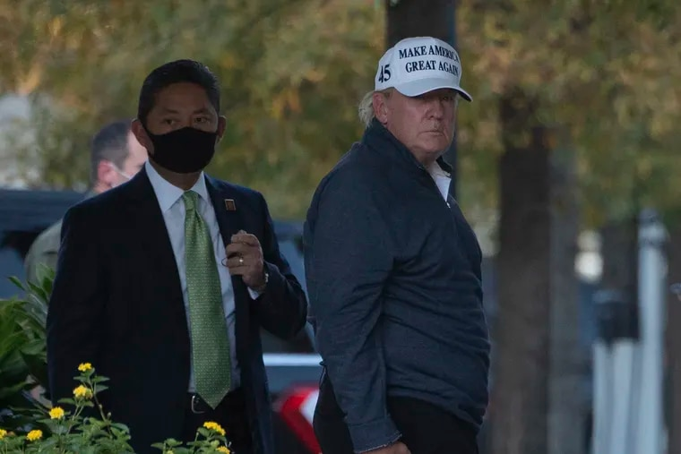 President Donald Trump returning to the White House from playing golf in Washington, DC on Saturday, after Joe Biden was declared the winner of the 2020 presidential election.