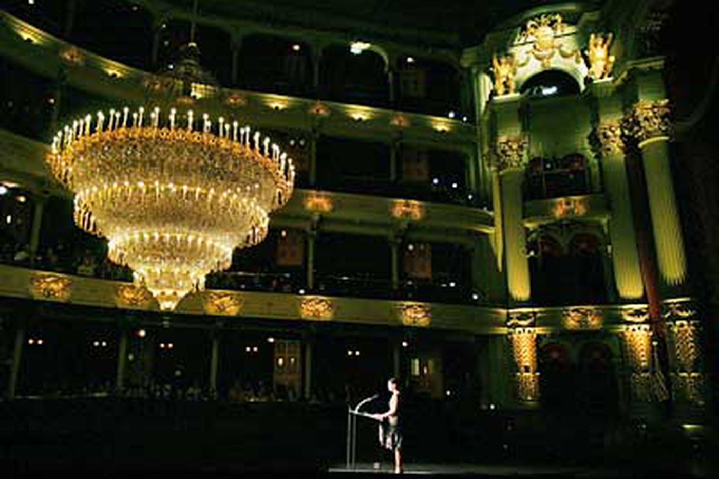 Restored chandelier glows at Academy of Music