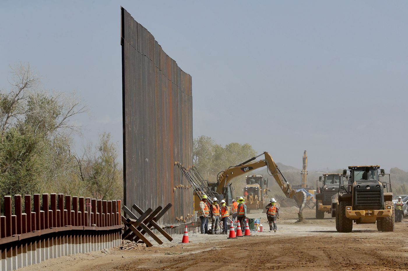 In small section of border wall, Trump's promise takes shape