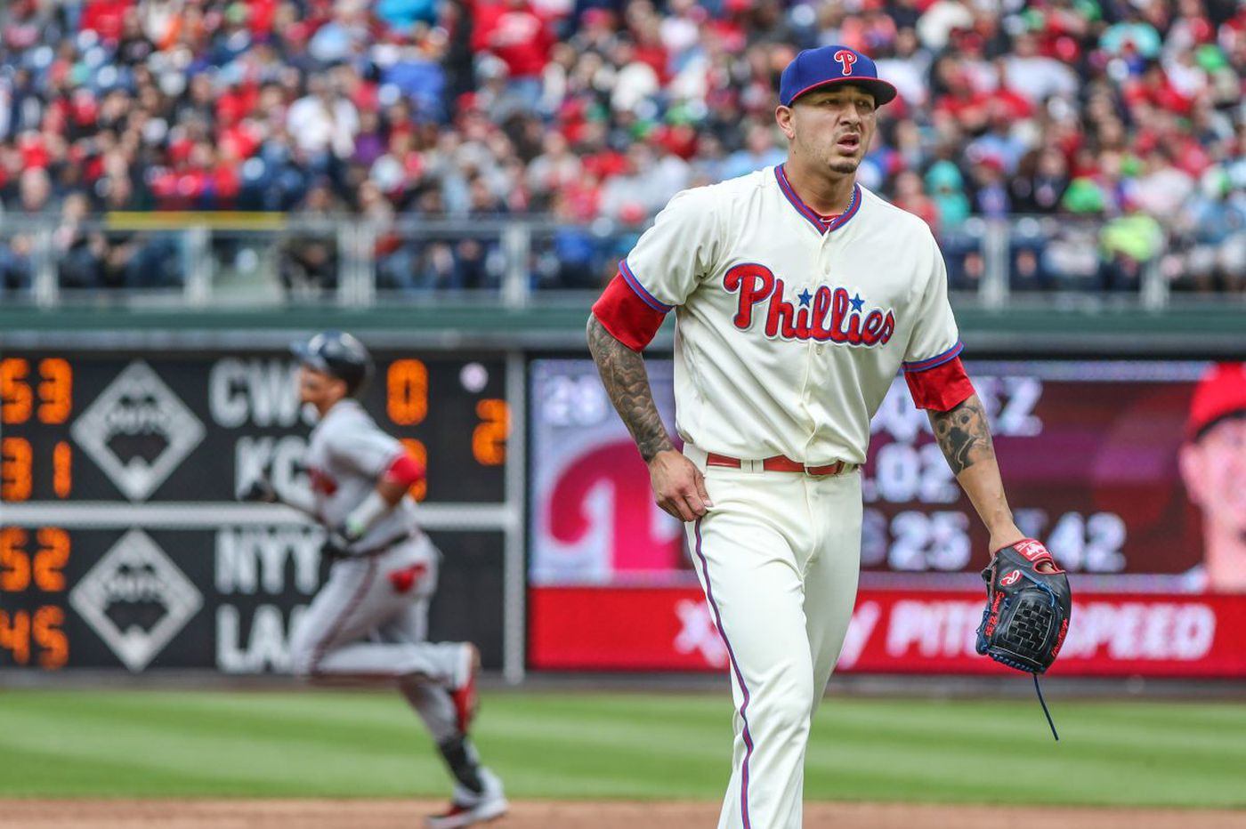 Vince Velasquez gets rocked as Phillies fall to Braves