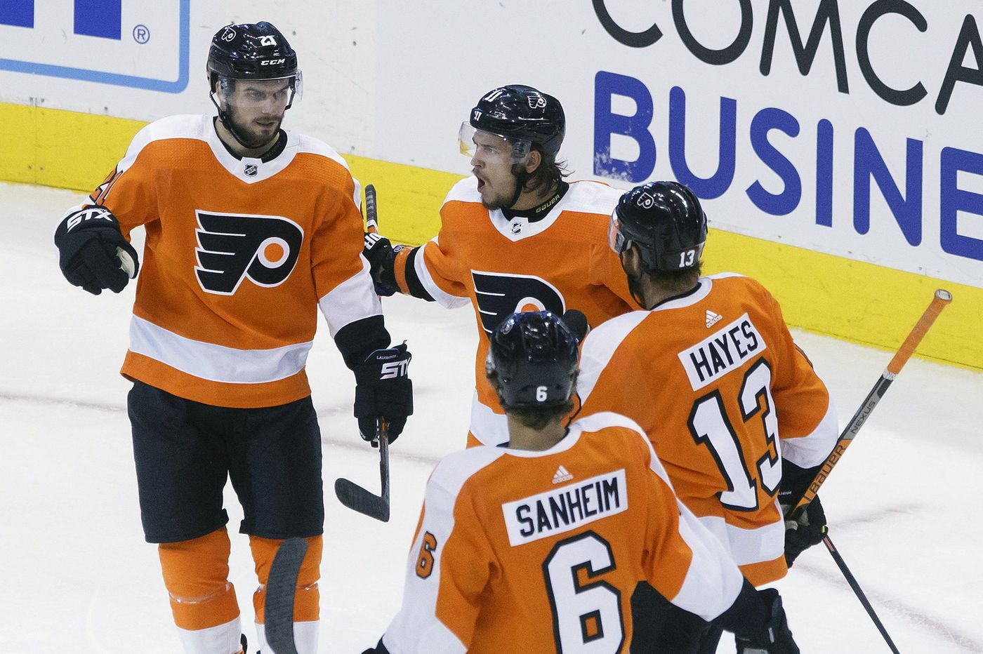 Two key players will be out as 'matured' Flyers face Tampa Bay with East's No. 1 seeding on the line