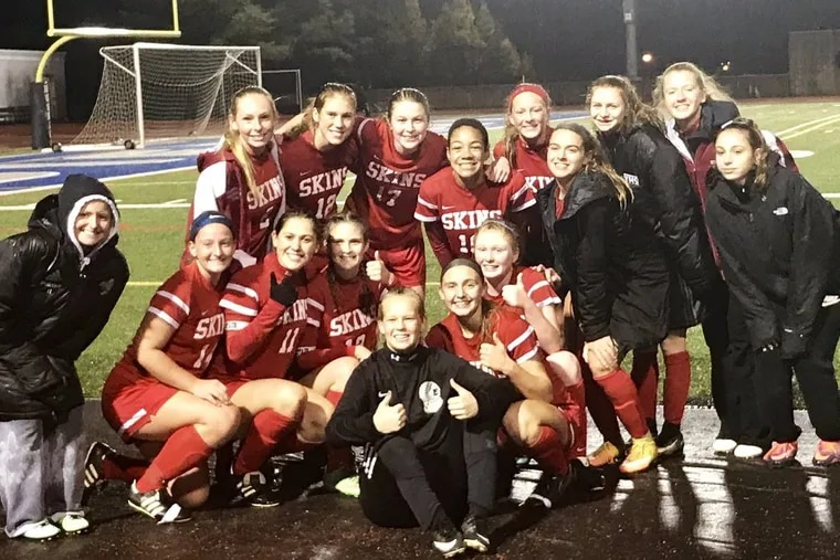 The Neshaminy girls' soccer team beat previously unbeaten Parkland in the PIAA Class 4A playoffs on Tuesday.