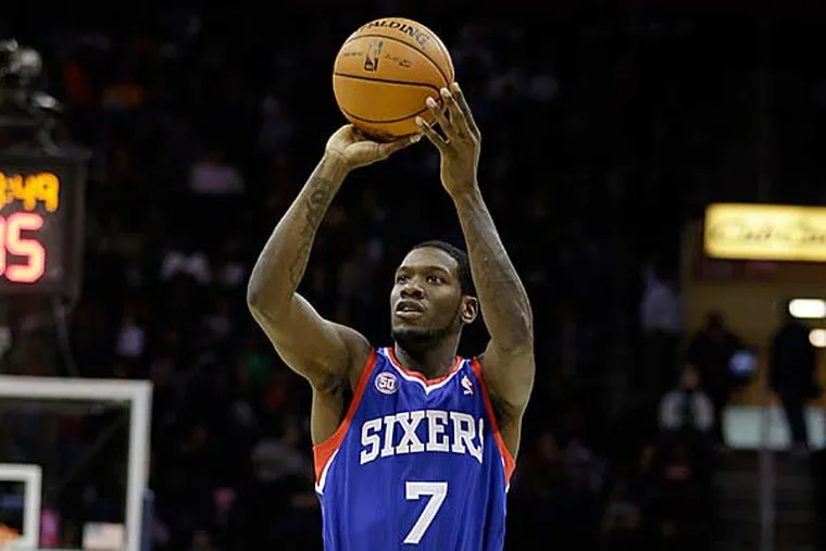Royal Ivey played eight minutes during the Sixers' loss to the Trail Blazers Saturday night. (Mark Duncan/AP file)