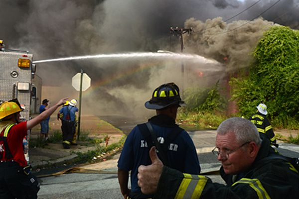 12-alarm fire engulfs former tire distributorship in Camden