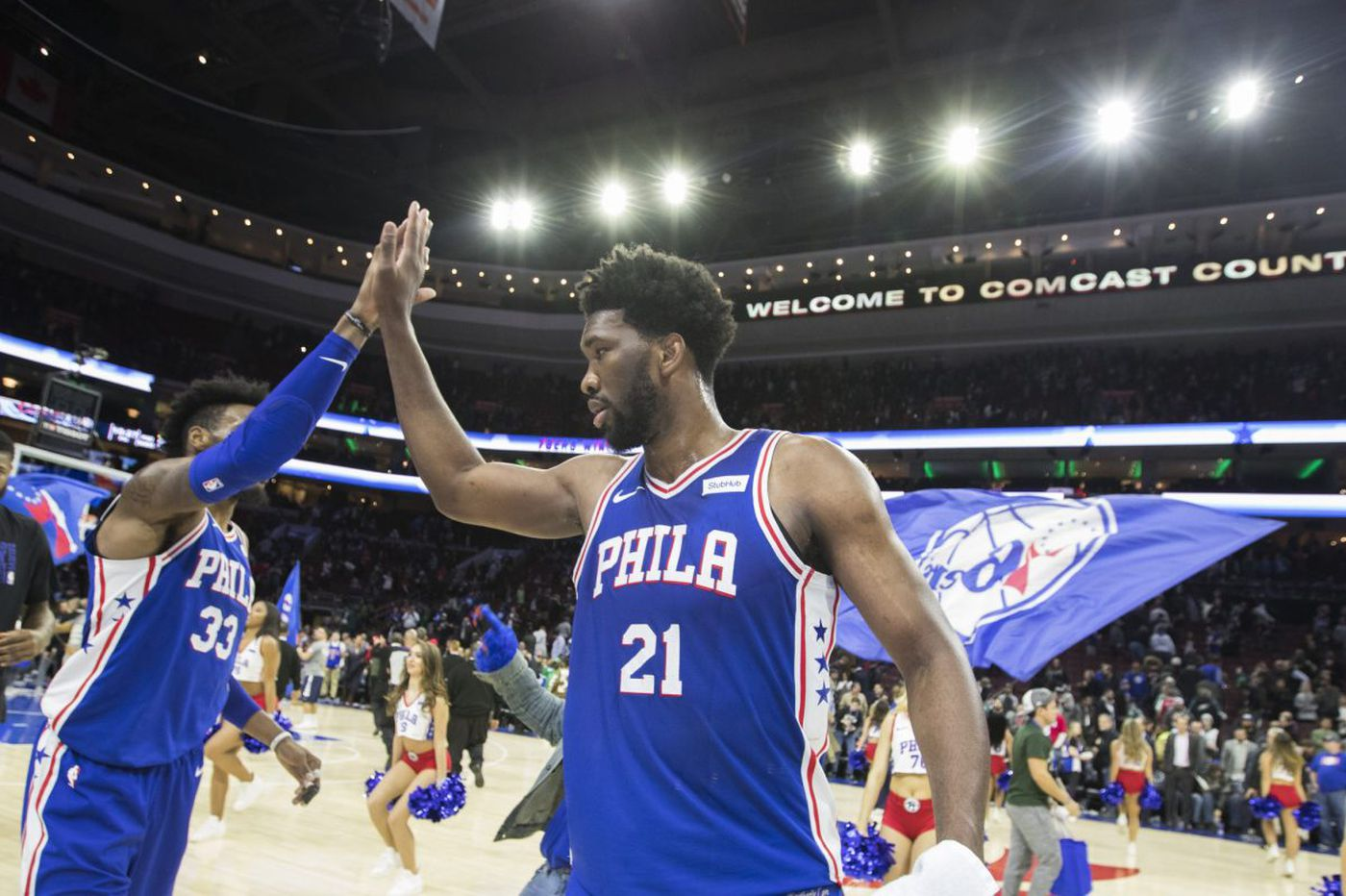 76ers hold off Wizards behind big nights from Joel Embiid, Ben Simmons